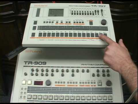 roland tr 707 tr 909 ride and crash cymbals youtube. Black Bedroom Furniture Sets. Home Design Ideas