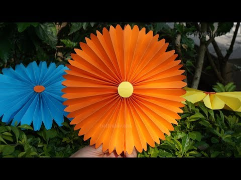 Paper Fan Flowers | Paper Pinwheels Rosette Backdrop for Decoration