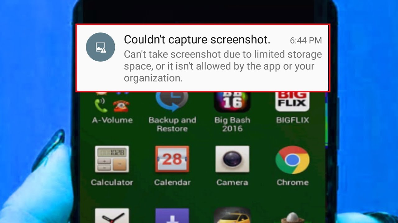 How to Fix Couldn't Capture Screenshot Due an Error Limited Storage in  Android