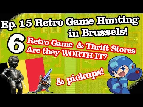 Ep. 15 Video Game Hunting Live In Brussels!  Retro Game Stores Belgium.