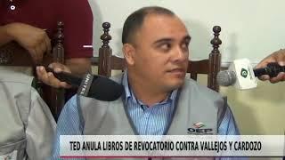 TED ANULA LIBROS DE REOVATORIO CONTRA VALLEJOS Y CARDOZO