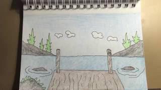 lake draw background cartoon