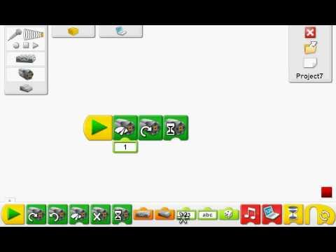 LEGO WeDo how to program swing object - YouTube