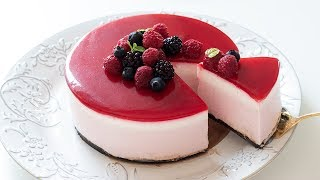 ラズベリーレアチーズケーキの作り方 No-Bake Raspberry Cheesecake|HidaMari Cooking