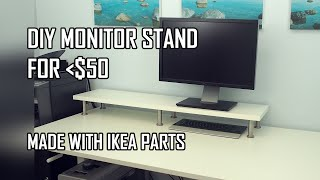 DIY Monitor Stand - IKEA Computer Desk Hack (with Ekby Jarpen Shelf and Capita Legs)