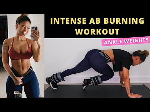 INTENSE SIX PACK WORKOUT WITH ANKLE WEIGHTS
