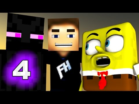 SPONGEBOB IN MINECRAFT 4! ♫ (3D Animation)