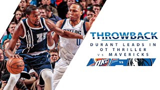 Kevin Durant Drops 52 Points And A Game Winner In OT vs Mavericks | Full Classic Game - 1.18.13