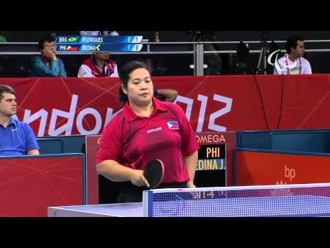 Table Tennis - BRA vs PHI - Women's Singles - Class 8 Group B - Qual. - London 2012 Paralympic Games
