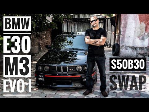 BMW E30 M3 Evo 1 inceleme (S50B30 - S52B32 silindir kapağı Swap)