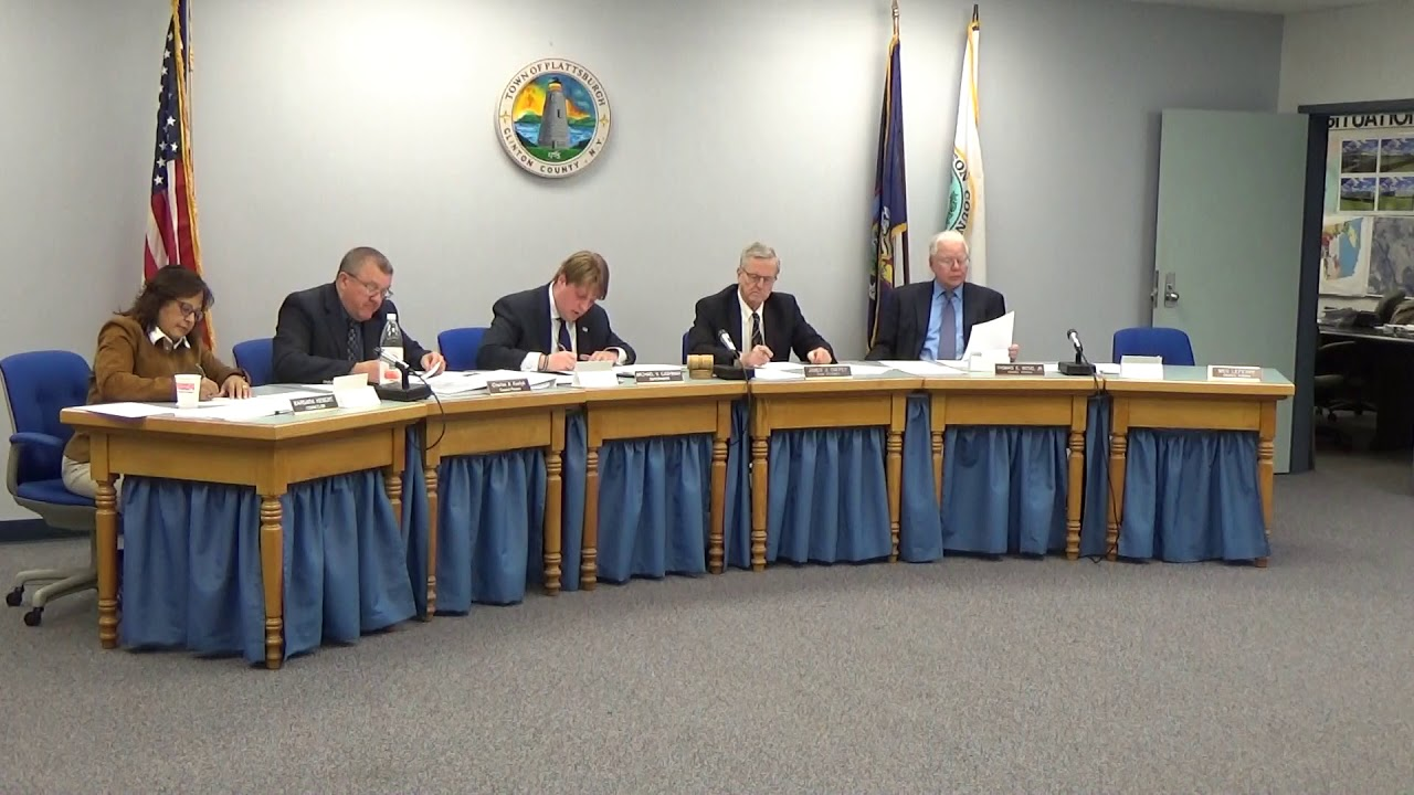 Town of Plattsburgh Meeting  11-7-19