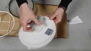 Обзор светильника НПП1102 белый с решеткой 100Вт IP54 ИЭК