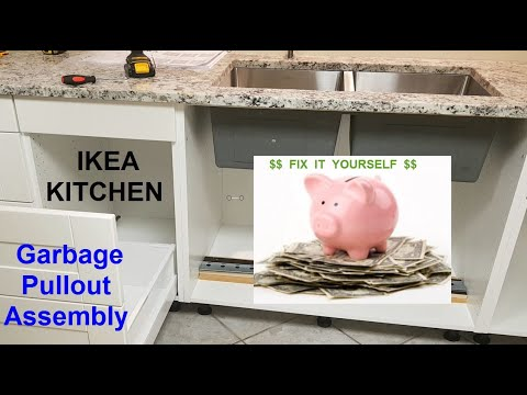 IKEA Kitchen Garbage Pull Out Installation
