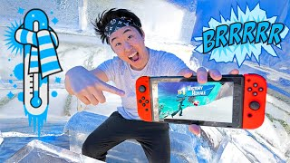 Fortnite Ice Fort Challenge w/ Carter Sharer and Lizzy Sharer