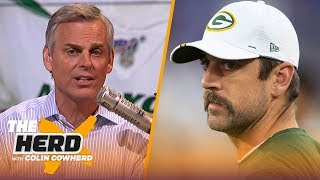 Rodgers' injury concerns may lead to Packers drafting a QB, Colin talks Sam Darnold | NFL | THE HERD
