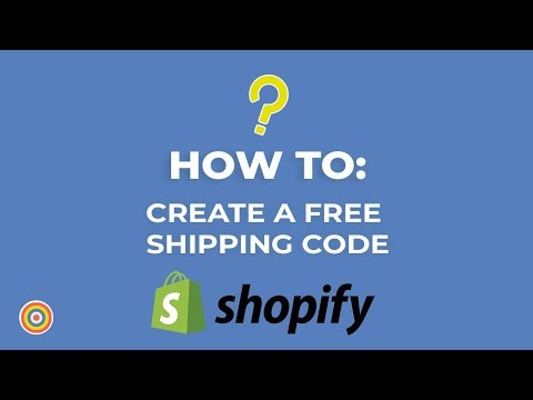 How to Create a Free Shipping Code on Shopify – E-commerce Tutorials