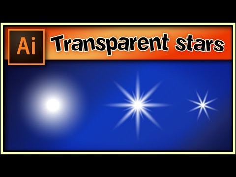 ⭐⭐⭐ Transparent Stars Very Quick - Awesome Adobe Illustrator Tutorial