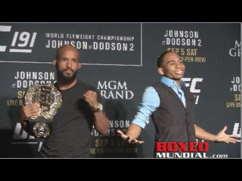 UFC191 Johnson vs Dodson fighter face Off