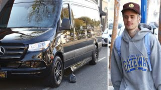 Justin Bieber's Mercedes Luxury Van Gets SMASHED While Parked At The Spa