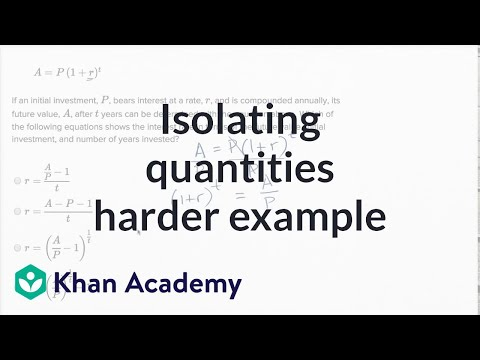 Isolating Quantities — Harder Example | Math | New SAT | Khan Academy