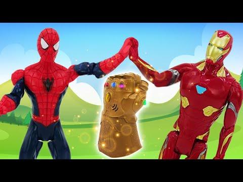 Железный Человек и Спайдермен - Герои Мстители против Титана Таноса! – Видео игры с супергероями