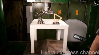Crushing our awards with hydraulic press