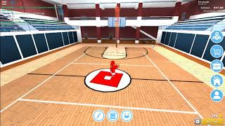 how to do a 97 feet shoot in roblox high school [ basketball ]