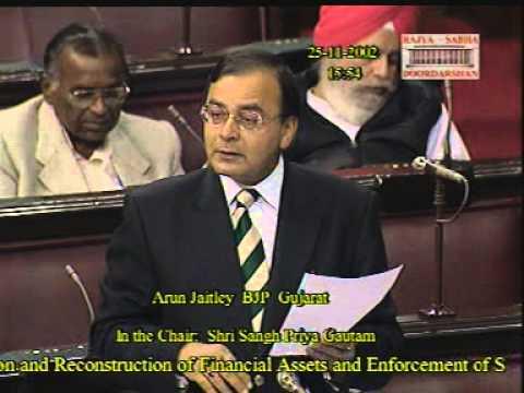 Debate on Financial Assets Enforcement of Security Interests Bill, 2002