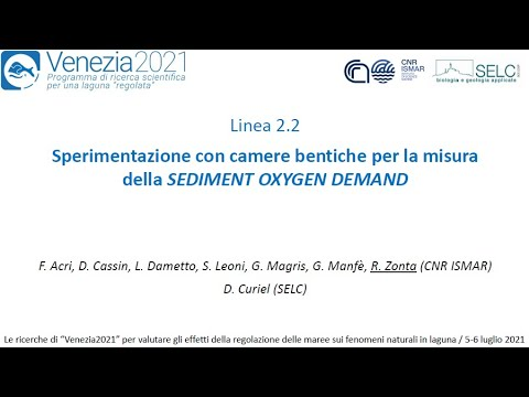 Sperimentazione con camere bentiche per la misura della SEDIMENT OXYGEN DEMAND