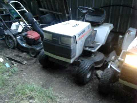 1985 1988 Sears Craftsman Lawn Tractors Running At Once
