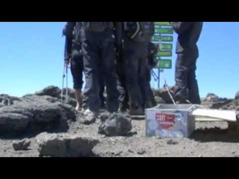 Barefoot Kilimanjaro Expedition Day 5 - the summit is reached, Kili is conquered barefoot!