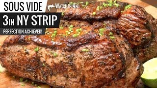 Sous Vide New York Strip Steak Perfection Achieved!