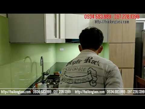 Kính ốp bếp - KÍNH ỐP BẾP MÀU Kem  HI CÔNG TẠI 15 liên mạc