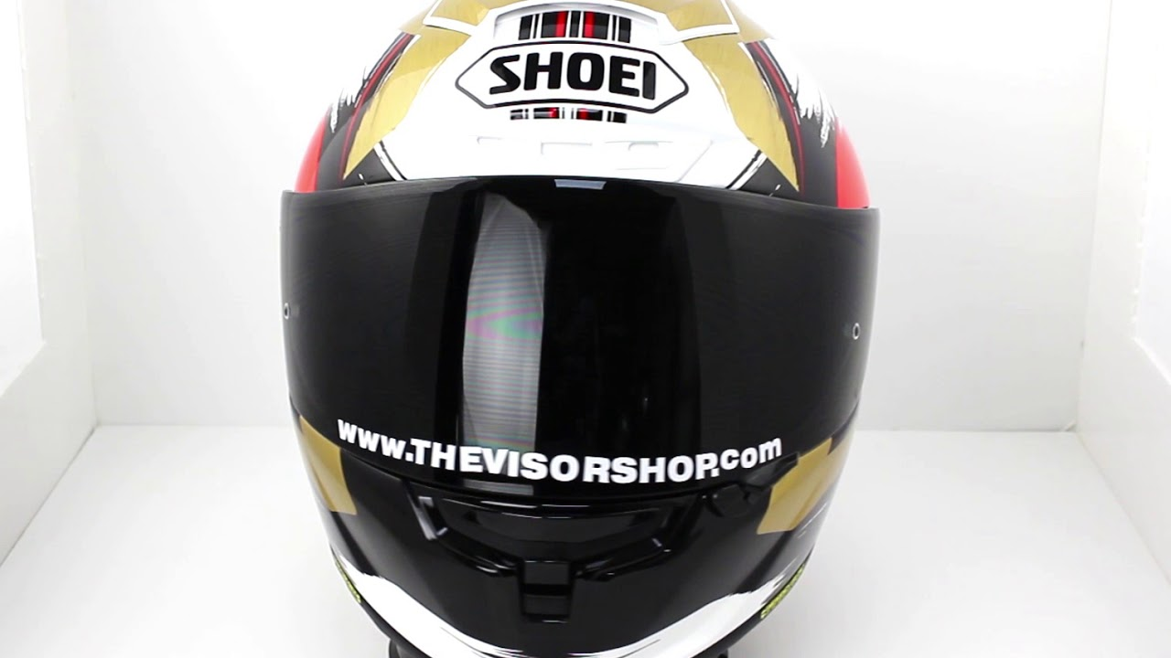 e6f40d37 Shoei X-Spirit 3 Marquez II Motegi TC1 Helmet (White Black Gold Red)   The  Visor Shop.com