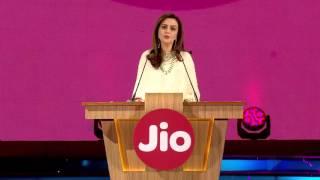 Nita Ambani at Reliance Jio Employee Launch | #CelebratingJio