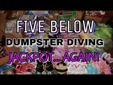 $20,000 FIVE BELOW DUMPSTER DIVING JACKPOT! We got CAUGHT by an EMPLOYEE!