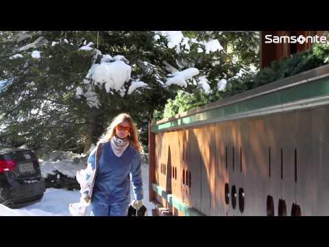 Mija travels the world with Samsonite