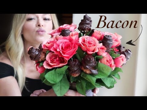 Chocolate Covered Bacon Roses | Keto Valentine's Day Mukbang!
