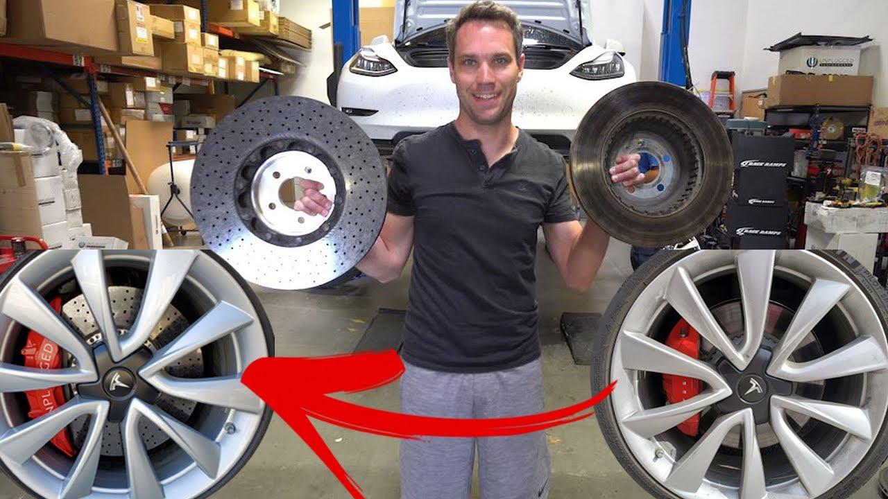 8 000 Tesla Model 3 Brake Job Carbon Ceramic Youtube