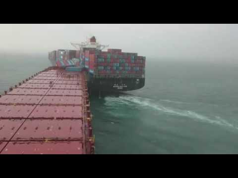 Accident of ship.....close view