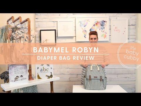 Babymel Robyn Diaper Bag Review : STROLLER STRAPS, WEARING OPTIONS