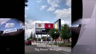 Gary B France 'On The Pitch' Man United v Liverpool at 'The Big House'