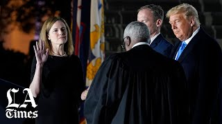Amy Coney Barrett takes constitutional oath to join Supreme Court