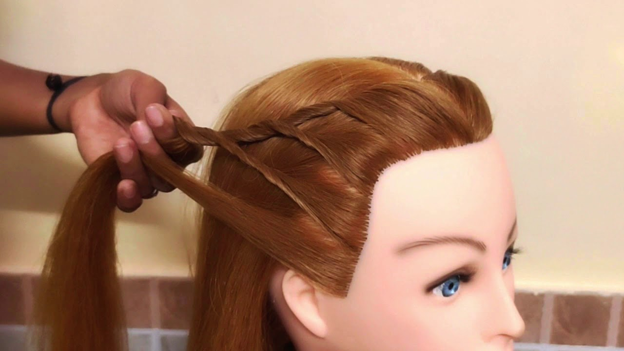 CUTE & COOL HAIRSTYLE FOR WEDDING FUNCTION   AWESOME HAIRSTYLE FOR LEHENGA\KURTI  EASY HAIRSTYLE