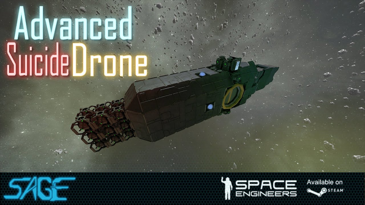 how to make mining drones space engineersd