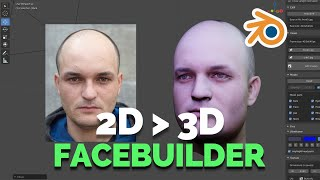 2D TO 3D FACE-BUILDER IN BLENDER!