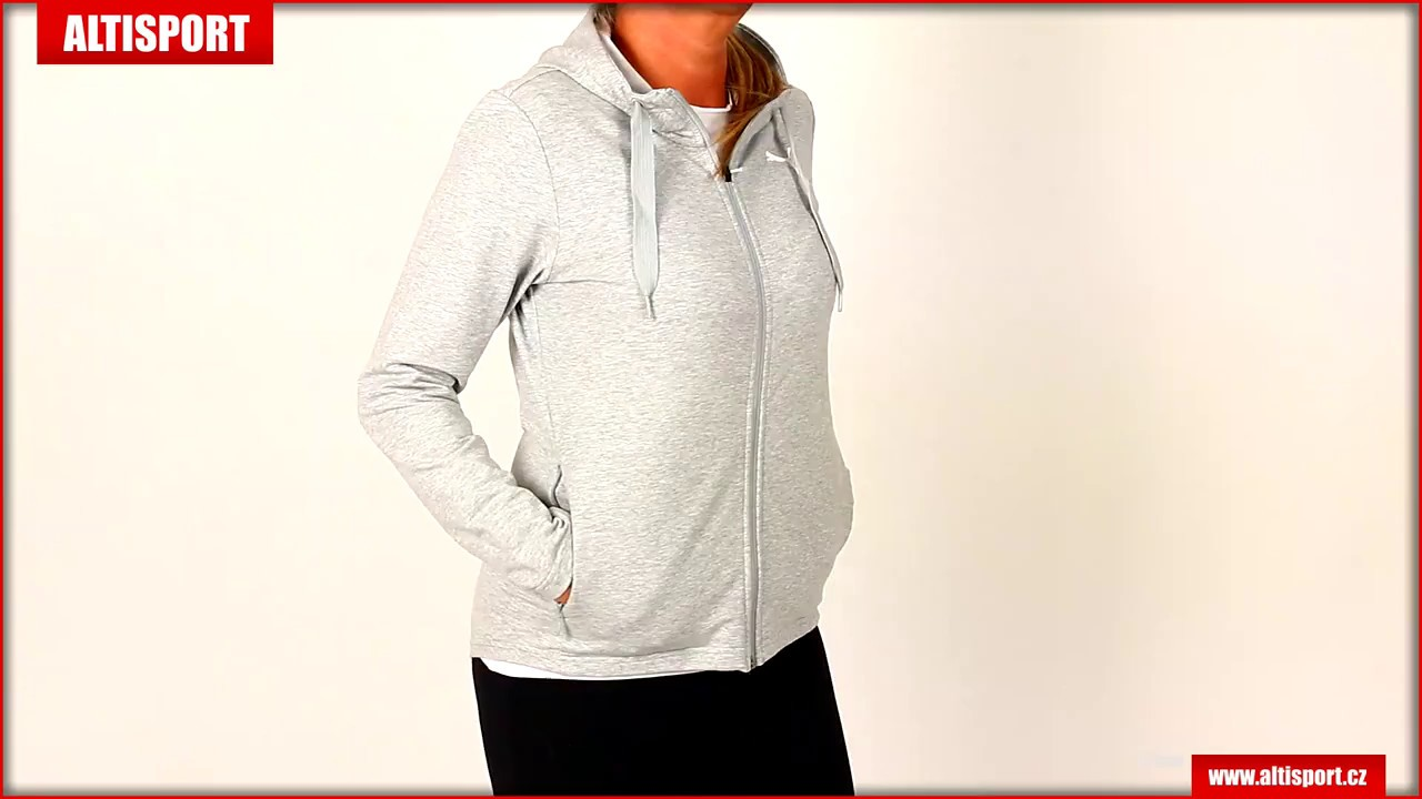 dámská mikina puma modern sport fz logo hoody 85202404 light gray heather 133ab4024da