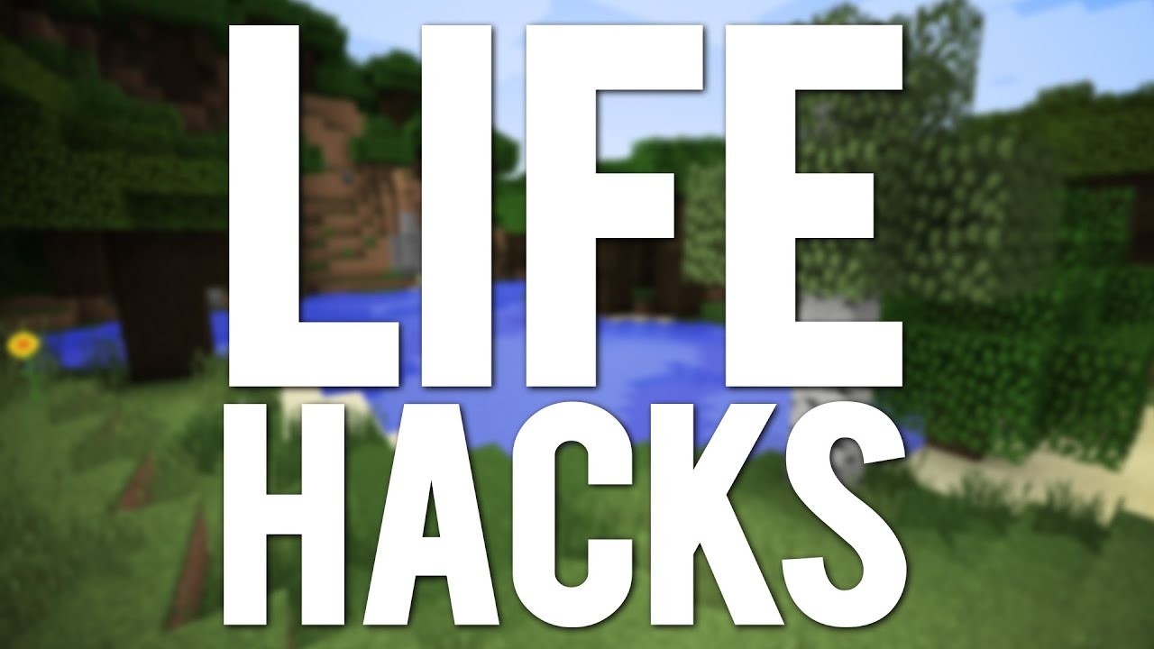 top 10 best minecraft life hacks youtube. Black Bedroom Furniture Sets. Home Design Ideas