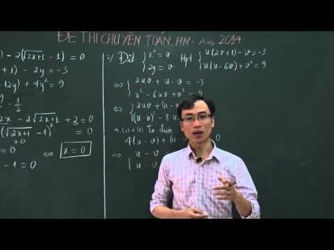 Đáp án đề thi chuyên toán Hà Nội - Ams 2014