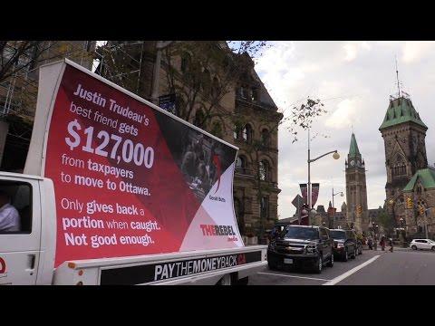 Mini-tour of Ottawa with PayTheMoneyBack.ca mobile billboard!